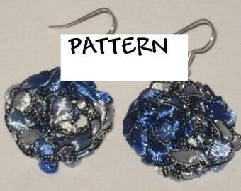 Trellis Ladder Yarn Crochet Necklace Pattern