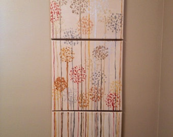3 Canvas Dandelions