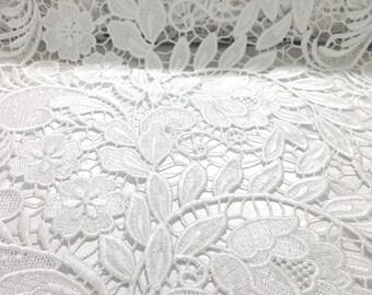 White Tulip Guipure French Venice lace