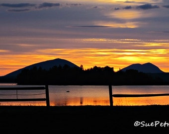 Good Morning Sunshine, Sunrise Photograph, Greenville, Maine, USA, Cottage Chic, Romantic Decor, Sunrise Photography, Fall Colors, Landscape