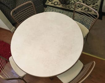 1950's COSCO Folding Table with 4 Chairs.