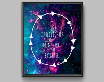Hipster Galaxy Quote Printable - Sunrise Avenue Quote Print - Indie, Hipster, Lyrics, Quote, Typography, Galaxy
