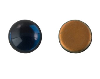 Vintage Montana Blue Glass Cabochons 15mm (4) cab2007U