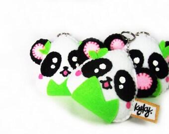 Panda Onigiri keychain