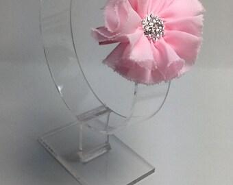 Pink hair flower, girls pink hair clip, pink hair accessory, pink hair clip for girls, pink hair clip for women, pink flower hair accessory