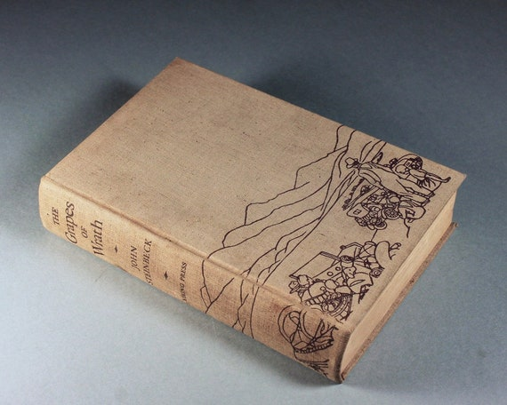 1939 Hardcover Book, The Grapes of Wrath, John Steinbeck, First Edition, 10th Printing, Novel, Fiction, Literature, Classic, Collectible