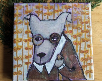 PROFESSOR BARKSWORTH - original 100 Stories painting