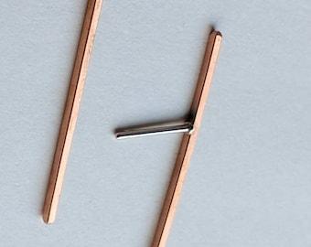 Bronze Bar Earrings