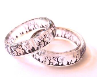 Gothic wedding rings Etsy