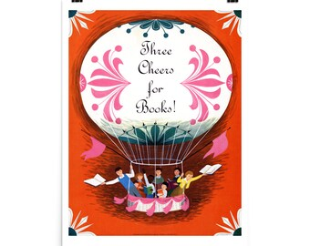 Three Cheers For Books! 1963,  Premium Photo Luster Paper Poster
