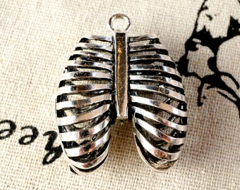 Rib Cage silver charm vintage style jewellery supplies