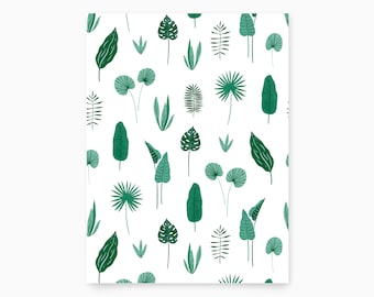 Exotic Plants Pattern Art Print