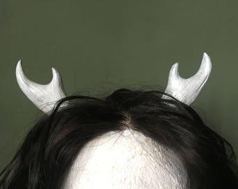 Small Antler Headband - white/silver