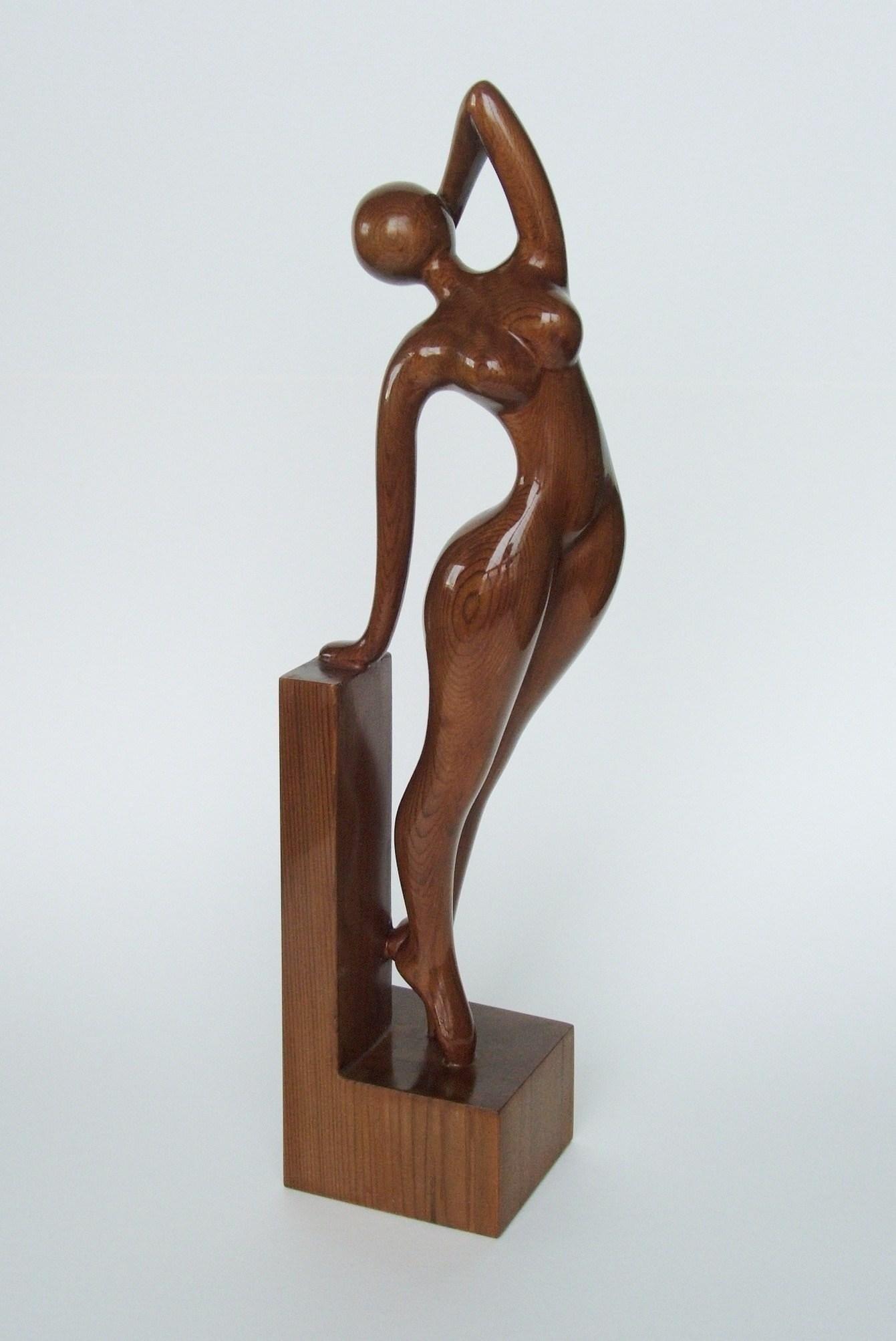 Nude woman wood sculpture AWAKENING | Etsy