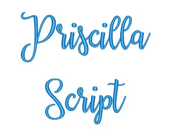 SALE!! Priscilla Script Embroidery Font Machine Embroidery Monogram Font Designs 5 Size Bx Embroidery Fonts - INSTANT DOWNLOAD