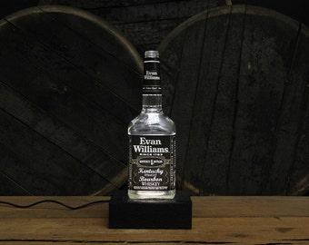 Evan Williams Bourbon Bottle LED Light, Gift For Him, Bourbon Lamp,  Gift For Husband, Father's Day Gift