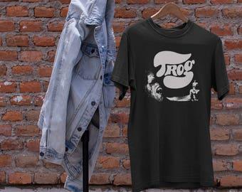 Trog  T shirt screen print short sleeve  black shirt cotton