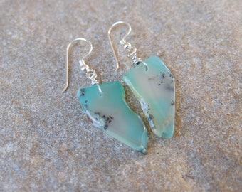 Chrysoprase earrings - aqua green Chrysoprase jewellery - Australian gem stone jewelry