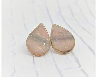 opal earrings gold lightweight earrings nickel free earrings jewelry gift for her polymer clay jewelry sister gift mom gift faux opal