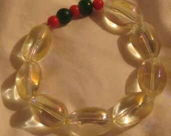 glass Pearl spring beaded bracelet