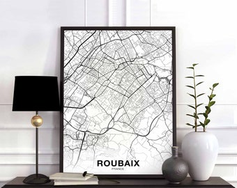 Map of roubaix Etsy