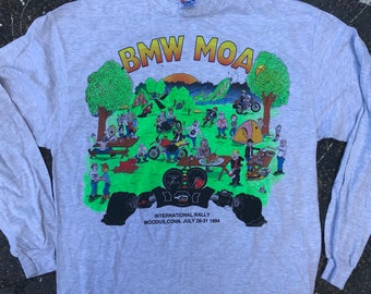 BMW MOA Motorcycle Owners of America International Rally Connecticut motorcycles tee shirt vintage tshirt 90s mens extra large longsleeve