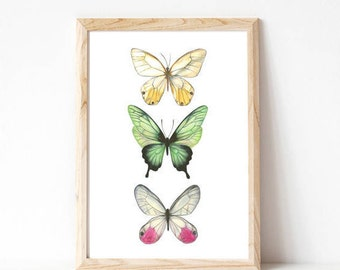butterfly wall art, butterfly wings, girls nursery ideas, playroom decor, woodland baby shower, baby nursery ideas, nursery ideas girls