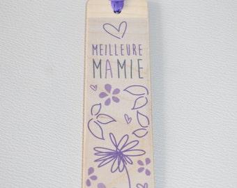 Bookmark wooden - best Granny