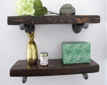 Floating shelf, Floating shelves,Rustic shelf, reclaimed wood shelf, floating pipe shelves, MADE TO ORDER