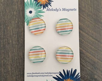 Rainbow Striped Magnets