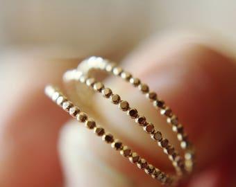 1 Gold/Rose/Sterling Bead Ring, Dot Ring, Beaded Rings, Stacking Rings, Simple Ring, Rings, Stacking Rings, Boho Rings, Simple, Modern, Chic