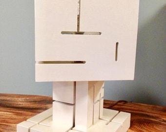 Modern Sliced Lamp with Rotating Shade
