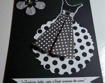 Party Dress Card Set Blank Inside