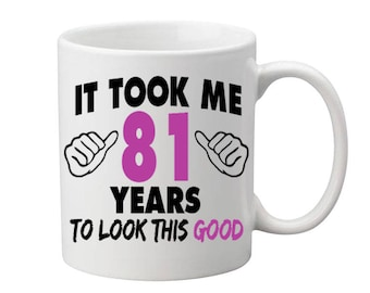 81 Years Old Birthday Mug Happy Birthday Gift Birthday Coffee Mug Coffee Cup Born in 1936 Personalized Mug ALL AGES AVAILABLE
