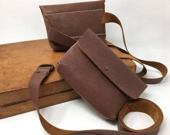 Leather HIPBAG, Leather belt bag , full-grain leather , hipbag 100% handmade with highest quality spanish leather