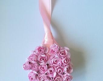 Pink paper roses decoration, newborn, wedding, home decor