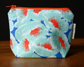 The Little Poppy Pouch, small zipper pouch, coin pouch, purse organizer, Mother's Day Gift, birthday gift