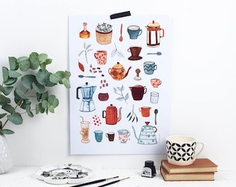 TEA & COFFEE (A3) Print / Poster