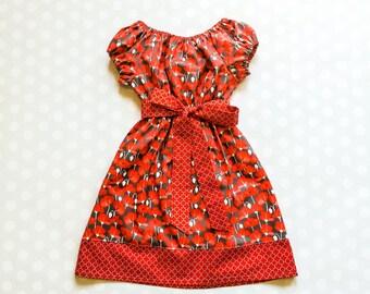 Poppies Cap Sleeve Dress - Girls Dresses - Spring Dresses - Girls Spring Dress - Sister Dresses - Red Dress - Baby Girl Dress - Poppy