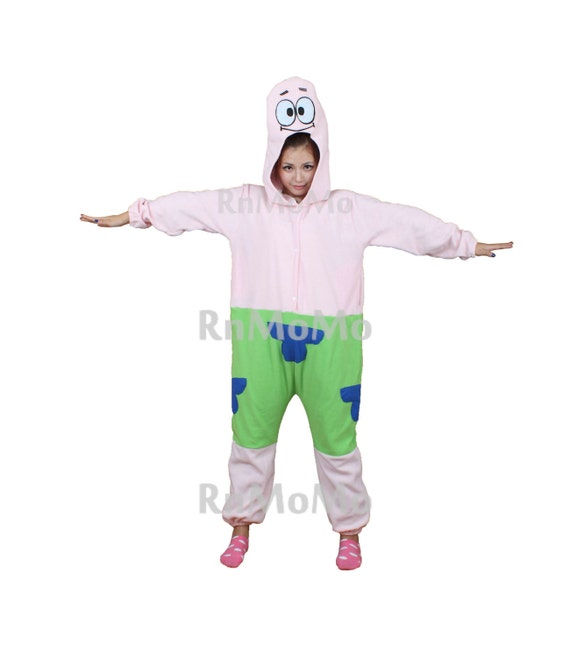 sc 1 st  Etsy & KIGURUMI Cosplay Romper Charactor animal Hooded Night clothes