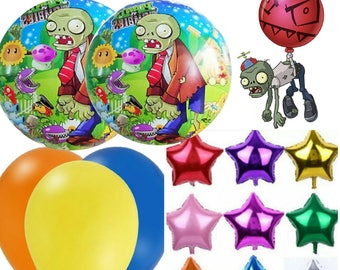 Plants vs zombies Balloon 10pc. set with ribbons