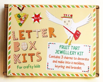 Fruit Tart Jewellery Making Kit - Kids Craft Kit - DIY Craft Kit