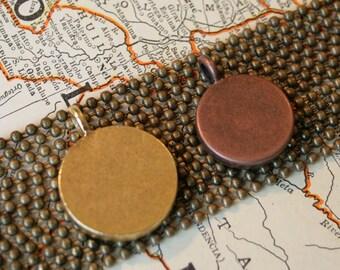 Brass Ball Chain Necklace 2.4mm-24 inces long, Brass Necklace Chain, Brass Chain to go with Map Jewelry