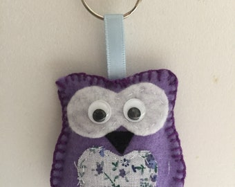 Owl Keyring / key chain / bag charm