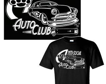 Kustom Kulture Hot Rod T-Shirt / Rockabilly Shirt / Greaser Shirt / Car Club Shirt
