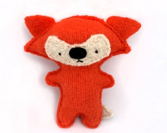 Orange Fox - Recycled Wool Sweater Plush Toy