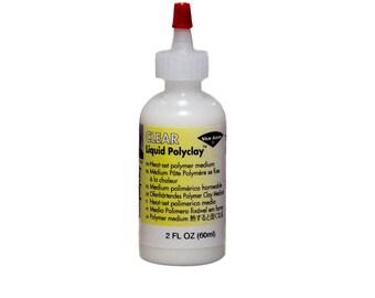 Translucent Clear LIQUID POLYCLAY Medium  2 oz Bottle Kato Polymer Clay Made USA