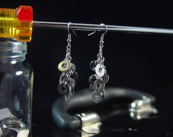 Hardware Jewelry stainless steel washer earrings