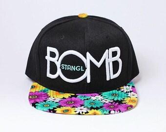 Stangl BOMB Daisy Floral Print Snapback Hat