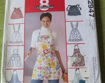 McCalls 2947 Misses Set of Aprons Sewing Pattern UNCUT